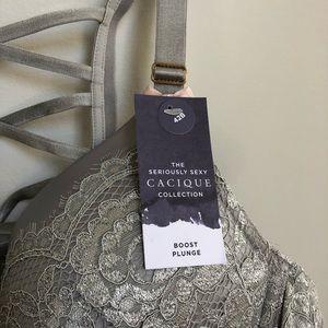 Cacique Intimates & Sleepwear - Cacique Boost Plunge Bra Lace Satin 42B